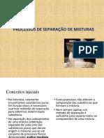 Processos de separação de misturas (1)
