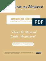 Imprimible Poner La Mesa Al Estilo Montessori