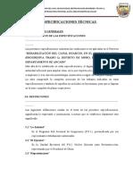 ESPECIFICACIONES TÉCNICAS HUARCOS
