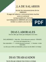 FORMULAS DE LA PLANILLA DE SALARIOS