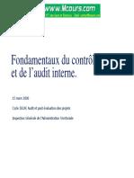 Fondamentaux Du Controle Interne Et de l Audit Interne