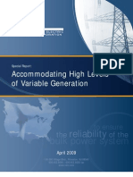 Accommodating High Levels of Variable Generation