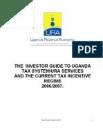 Uganda Incentive Regime 2006-07