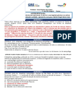 ANTROPOFAGIA - PERGUNTAS E RESPOSTAS
