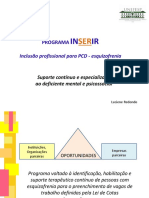 PROGRAMA INSERIR - Inclusão profissional para PCD - esquizofrenia