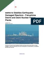 Battle to Stabilize Earthquake Damaged Reactors