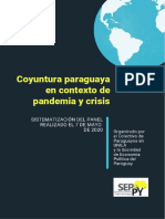 Coyuntura Paraguaya en Contexto de Pandemia y Crisis