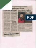 Article de la Vie Nouvelle sur la problématique des politiques culturelles à Chambéry