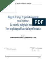 contrôle budgétaire bancaire - BP