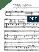 Dalida-Paroles, Paroles-SheetMusicTradeCom