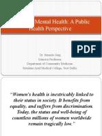 Public Health Perspective of Women's Mental Health