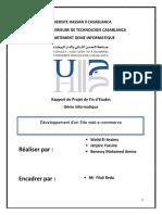 Rapport PFE Site Web E-commerce