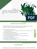 DESENVOLVIMENTO DE MUDAS DE CEDRO-ROSA EM SOLO CONTAMINADO COM COBRE - TOLERÂNCIA E POTENCIAL PARA FINS DE FITOESTABILIZAÇÃO DO SOLO
