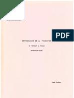 Methodologie de la traduction de l'allemand au francais
