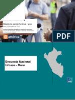Encuesta Nacional Urbano Rural 30 de Abril - Segunda Vuelta