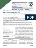 Assessment of monitoring in the teacher's function