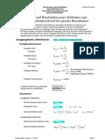 Durchmesser und Wandstärken eines Stahlrohres und Bambus/Bioverbundwerkstoff bei gleicher Belastbarkeit