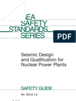 Seismic Design Nuclear Plants Iaea