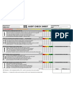 5S Audit Checksheet