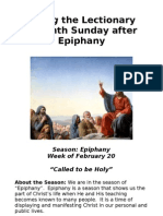 Living the Lectionary - 7th Sunday Epiphany