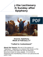 Living the Lectionary - 8th Sunday Epiphany