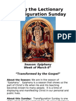Living the Lectionary - Transfiguration