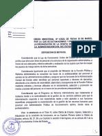 Orden Ministerial Oferta de Empleo Publico