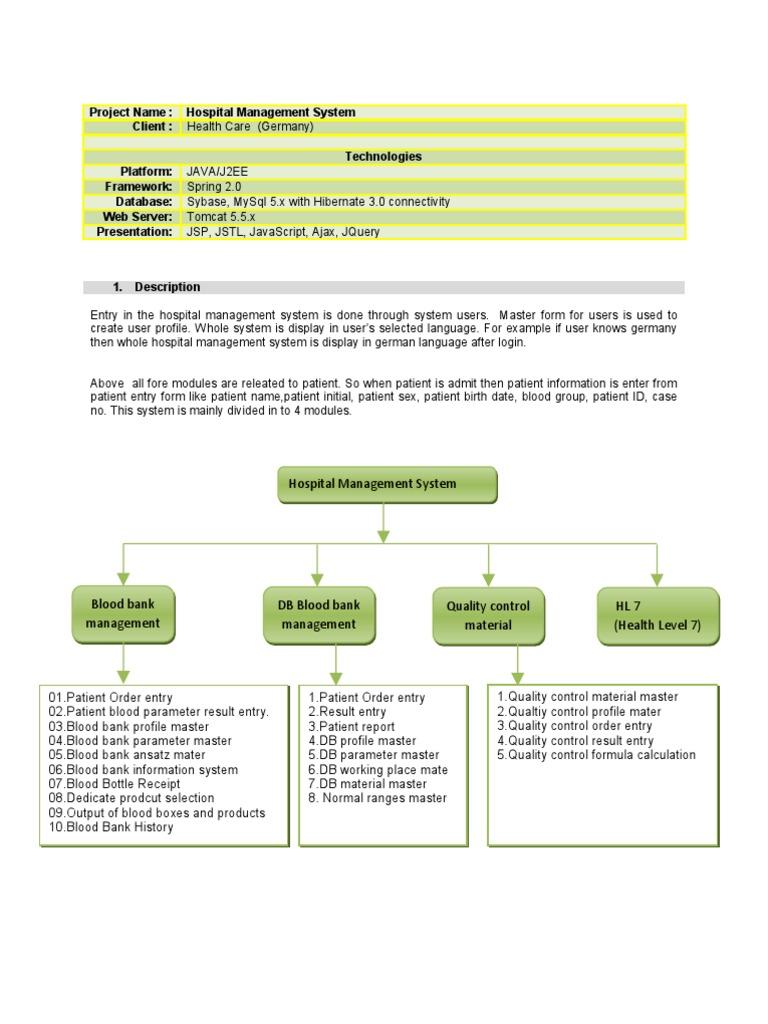 case-study-hospital-management-system   Patient   Computer ...