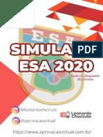 1° SIMULADO ESA - 31-05-2020 - APROVACAOVIRTUAL