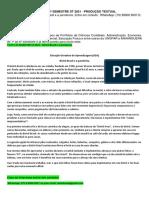 1º,4º e 6º Semestre St 2021 - Produção Textual Interdisciplinar - Bistrô Brasil e a Pandemia