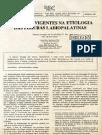 Conceitos vigentes na etilologia das fissuras lábio-palatais