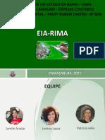 Apresentação EIA-RIMA finalizada