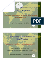BROCHURE de O & M - Operación y Mantenimiento de Clase Mundial