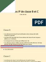 3.1 07-03 Adresses IP de classe B et C