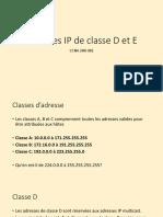 4.1 07-04 Adresses IP de classe D et E