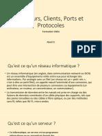 3.3 Servers, Clients, Ports et Protocoles