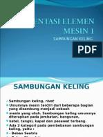 PERSENTASI ELEMEN MESIN 1 (sambungan keling)