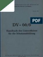 DV - 66/ 6 Handbuch des Unteroffiziers für die Schutzausbildung