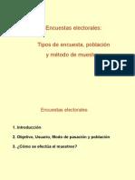 Encuestas electorales - tipos de encuesta, población y método de muestreo