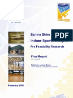 Ballina Indoor Sports Pre Feasibility Research