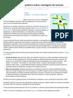 foodsafetybrazil.org-Publicada consulta pública sobre rotulagem de lactose