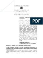 SentenciaT-291-09 Caso Cali  LAURA