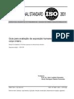 ISO nº 2.631 - avaliação da exposição humana à vibrações de corpo inteiro