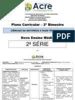 Plano de curso - CNT - 2ª  série - 2º BIM
