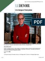 Mon rapport à la langue française | Le Devoir