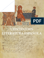 LITERATURA ESPAÑOLA CONTENIDOS