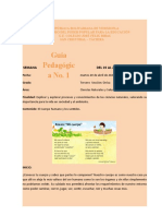 Guía Pedagógica No. 1. Ciencias Naturales y Salud 20-04-2021