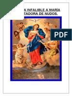 NOVENA INFALIBLE A MARÍA DESATADORA DE NUDOS