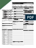 Blank Character Sheet DnD 4E 2.0