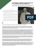 El destrato de Perón con Cámpora en España, el regreso al país y el texto original de su discurso contra los Montoneros - Infobae